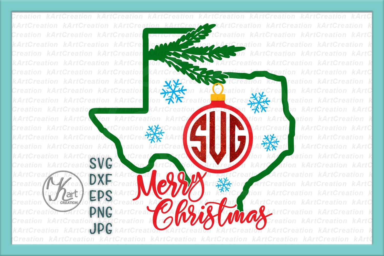 Christmas Texas Monogram svg Merry Christmas machine cut example image 1