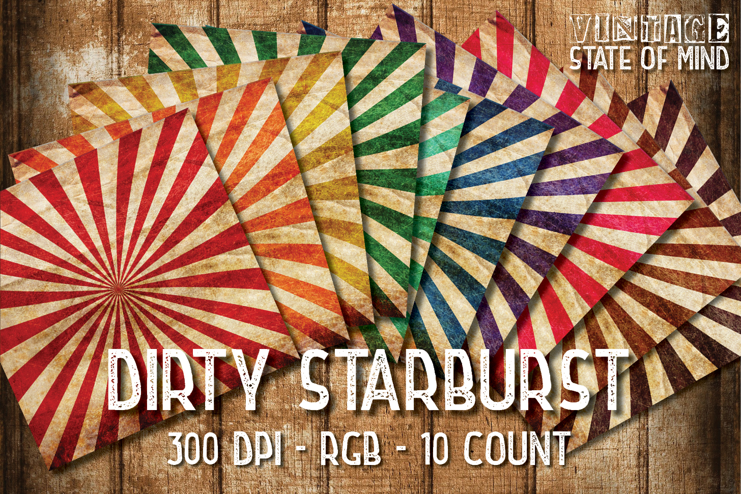 Dirty Starburst Digital Papers example image 1