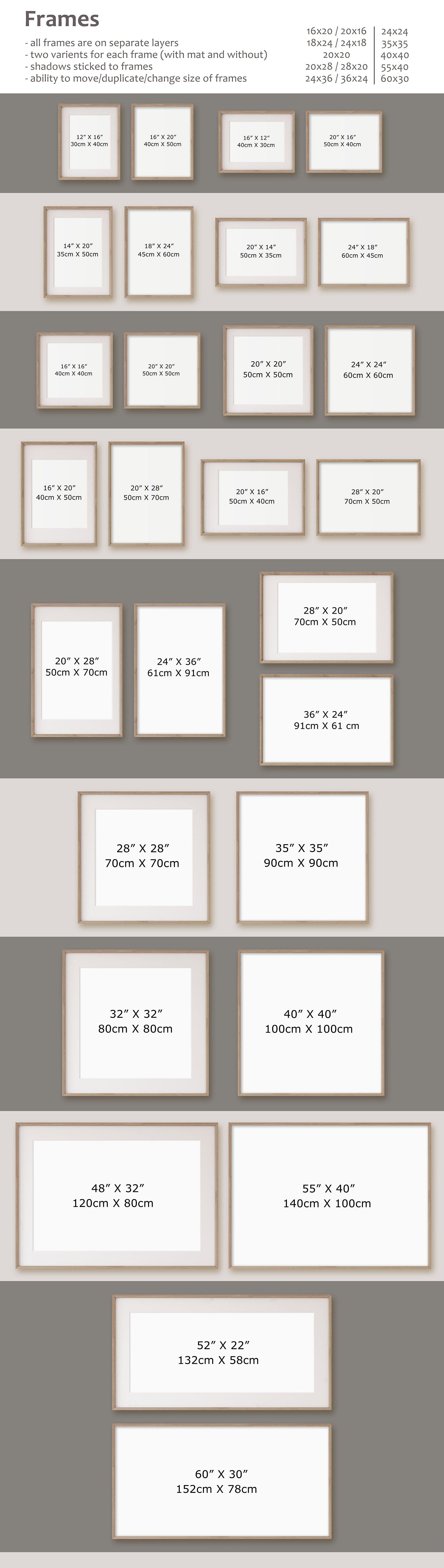 Living-room interiors. Wall&Frames Mockup. example image 12
