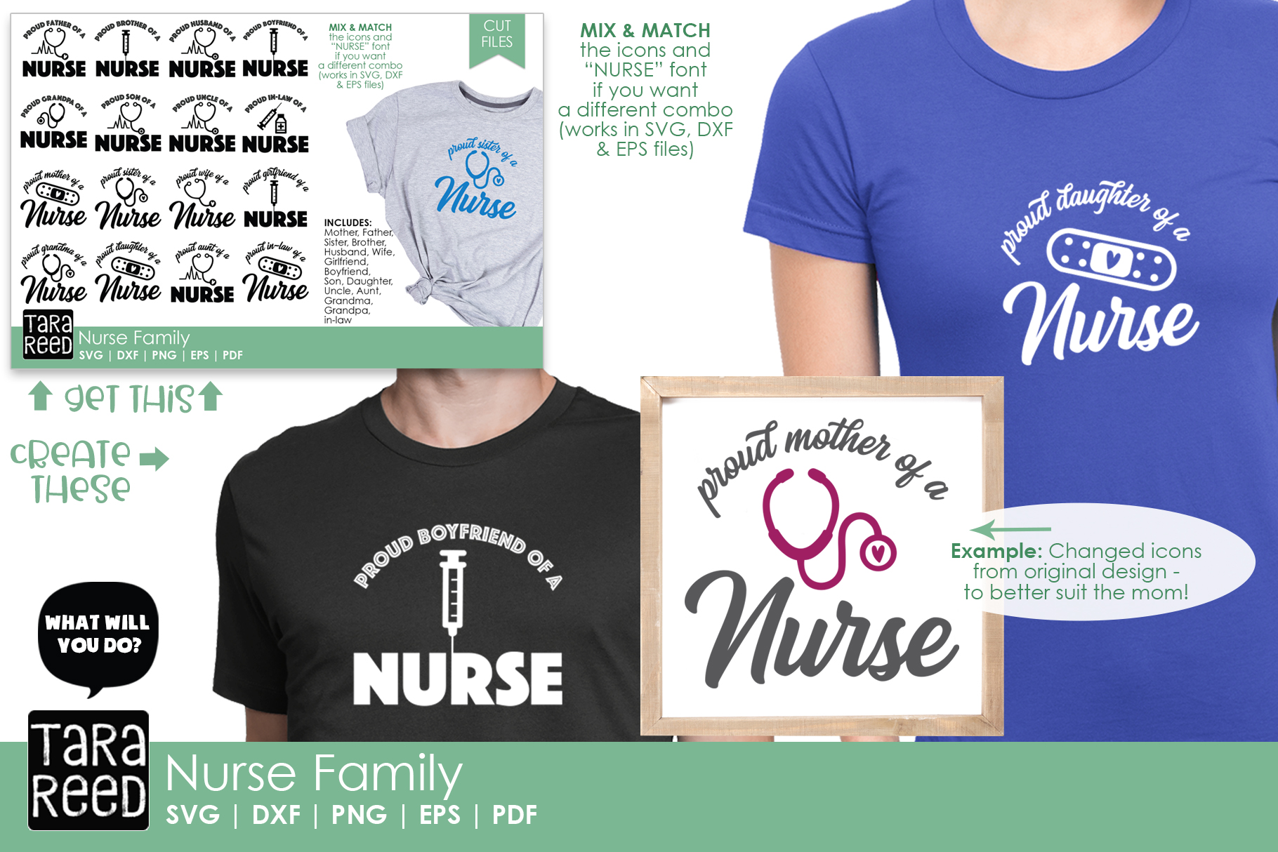 Nurse Family - Nurse SVG and Cut Files for Crafters example image 2