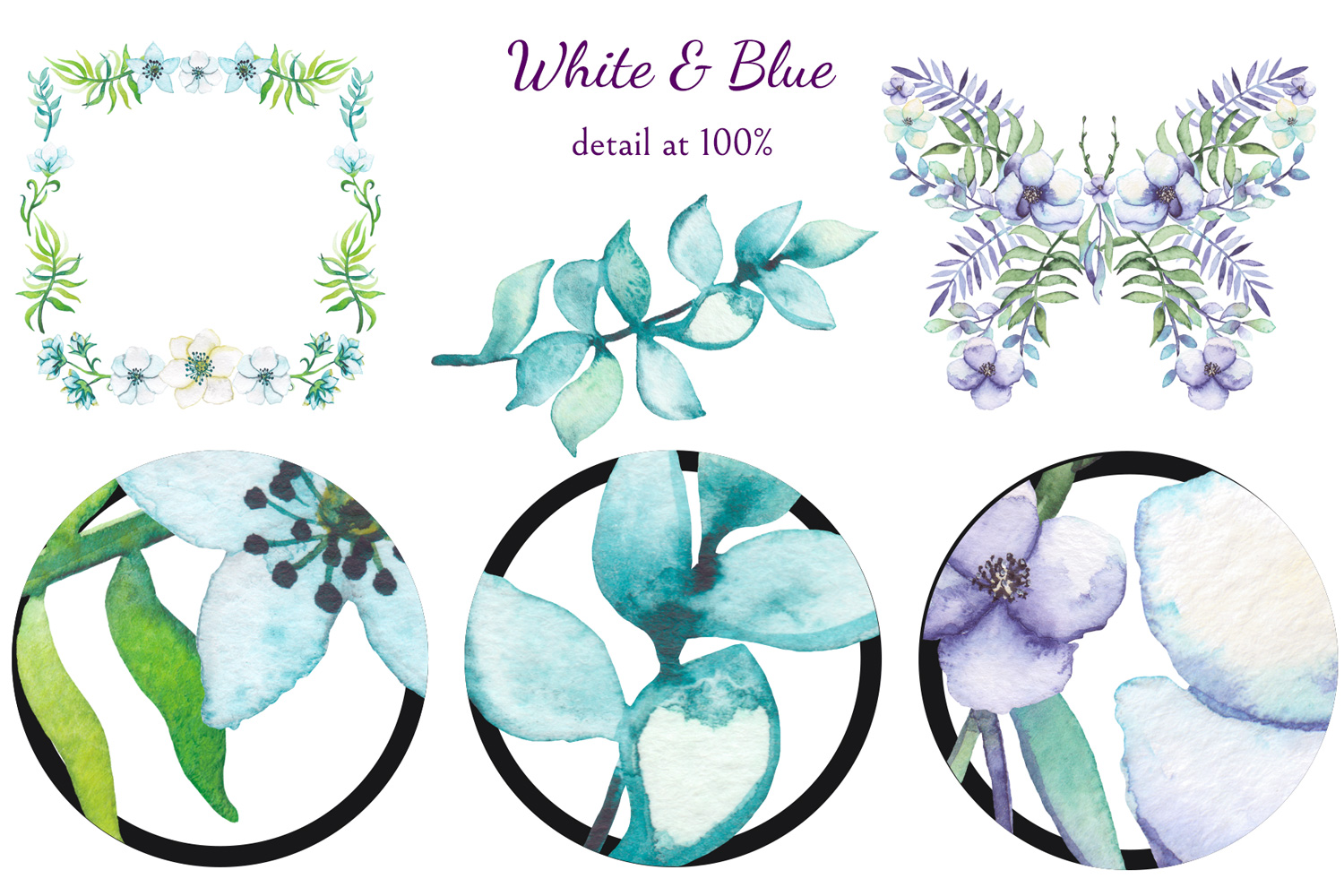White and Blue example image 8