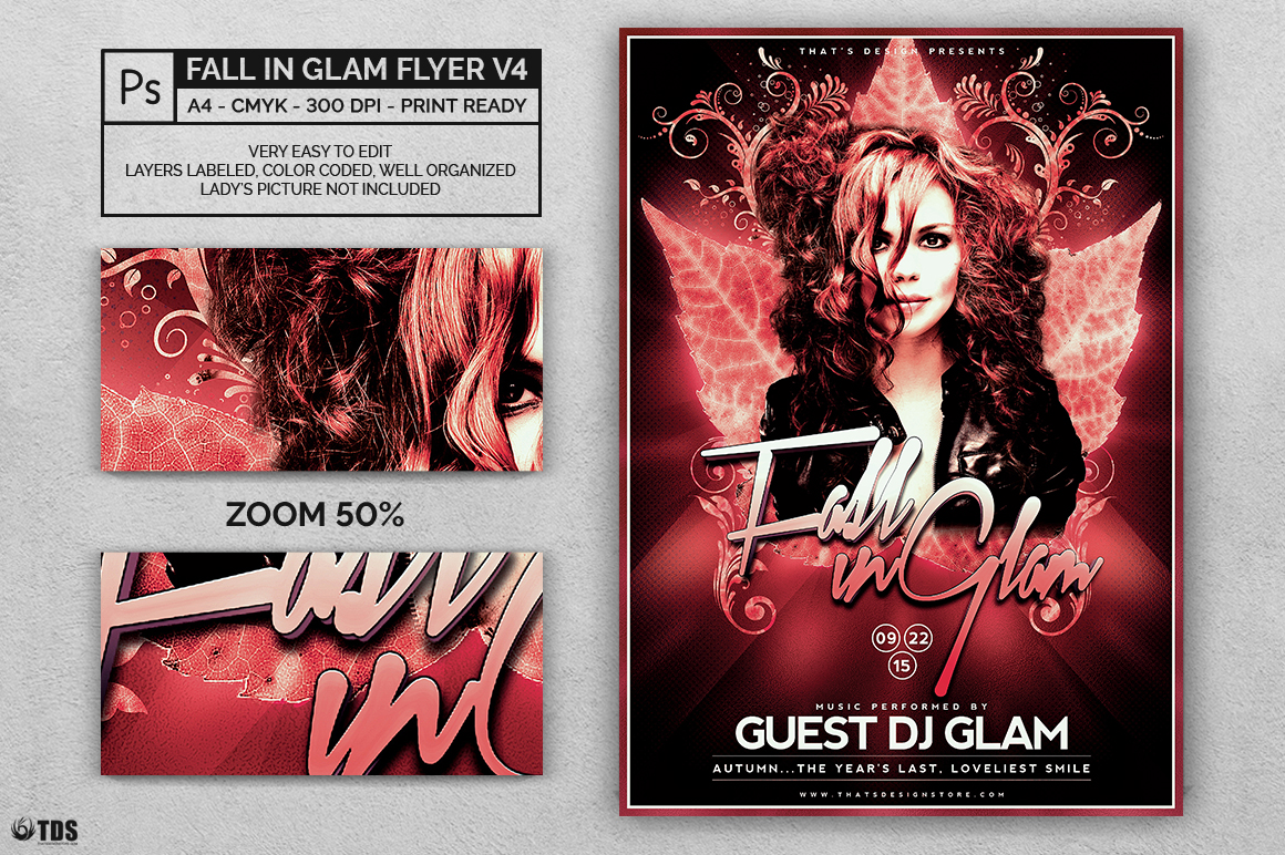 Fall in Glam Flyer Template V4 example image 2