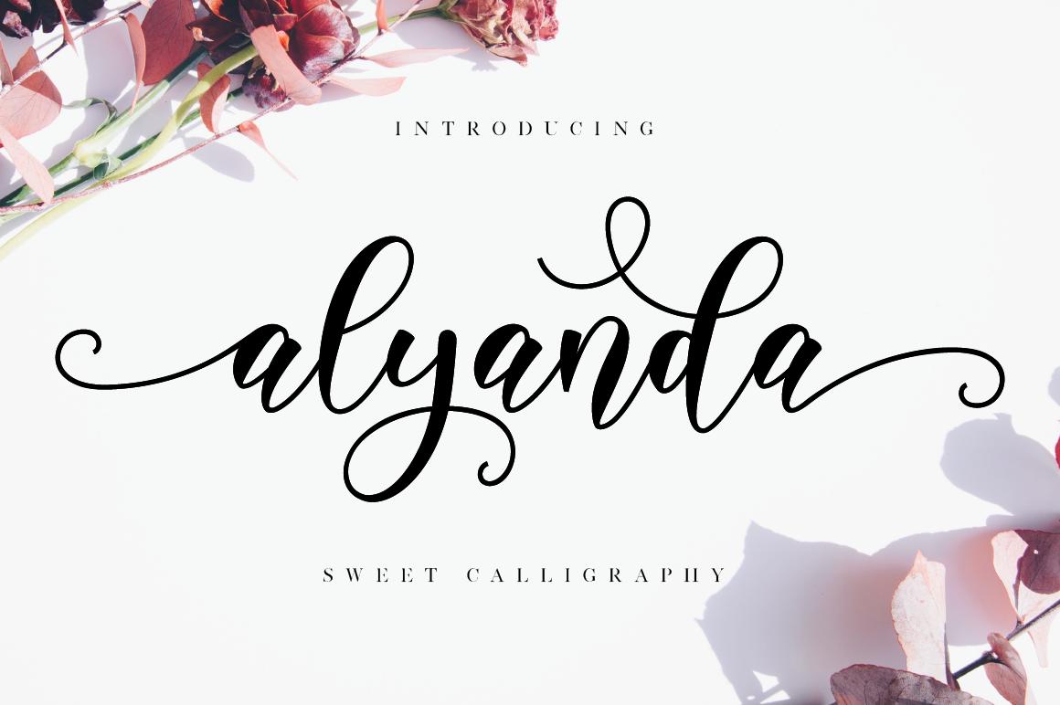 Alyanda Script example image 1