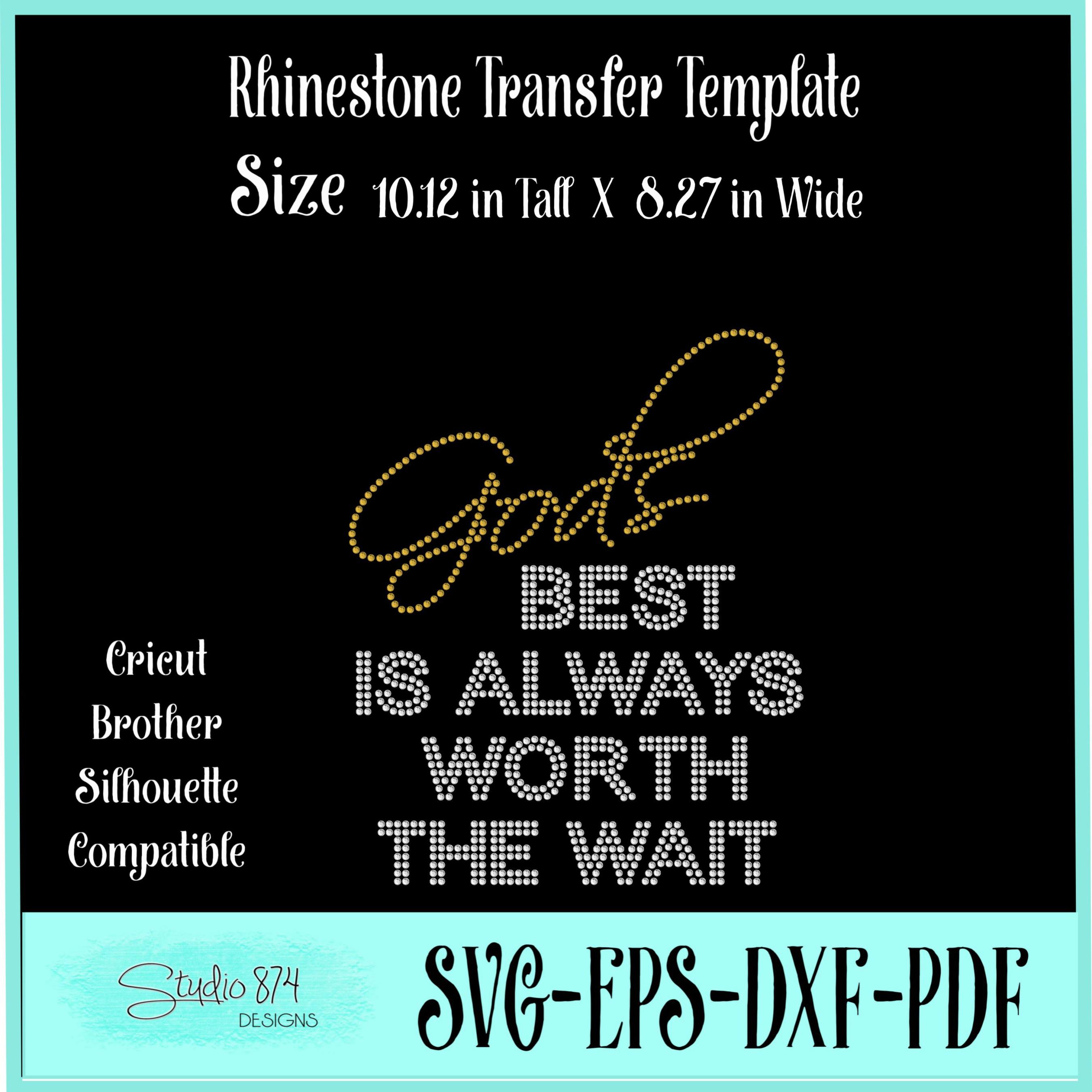 Faith Religious Rhinestone SVG Template - Gods Best example image 3