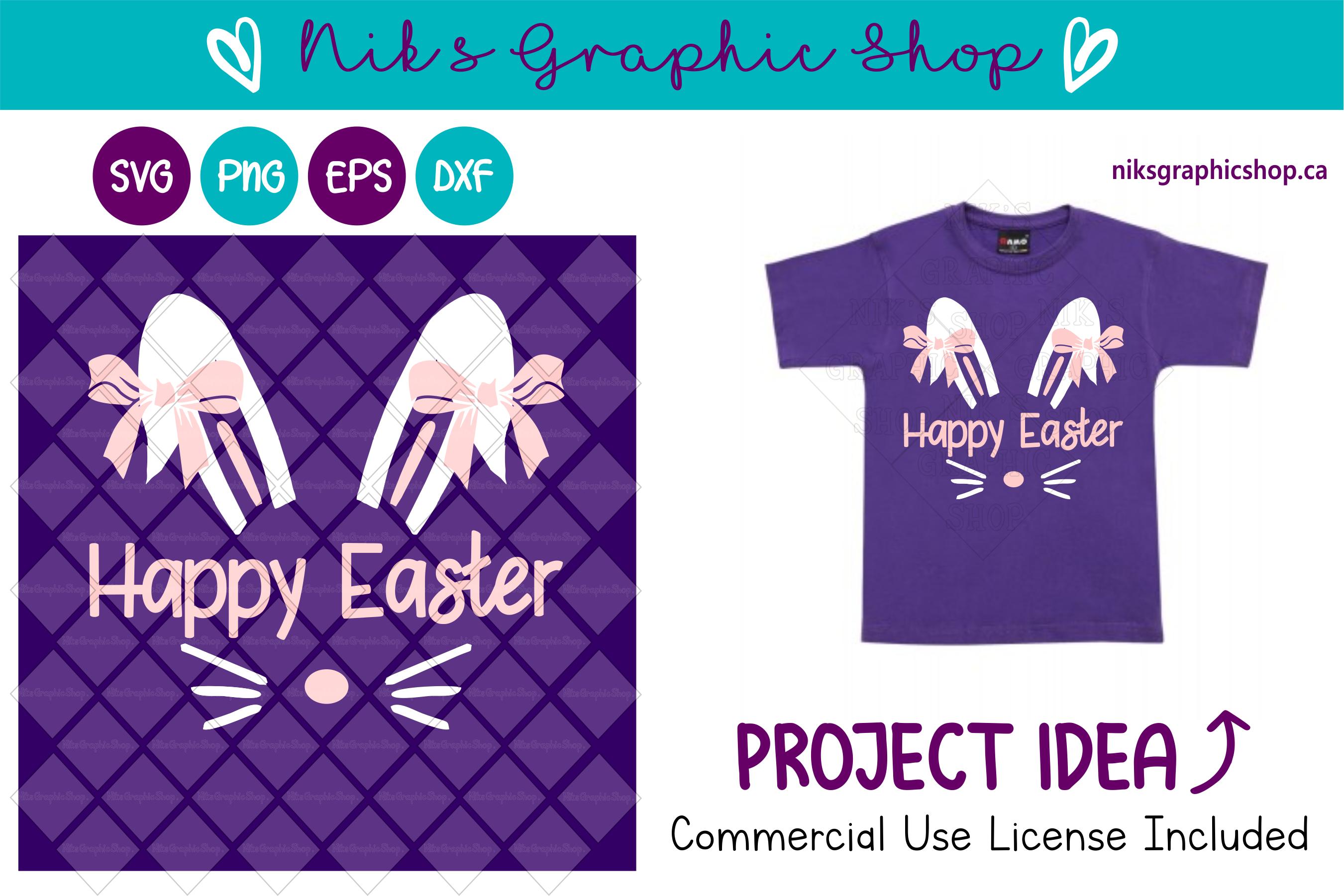 Easter bunny svg, Easter Svg, Bunny Svg, Easter Graphic example image 1