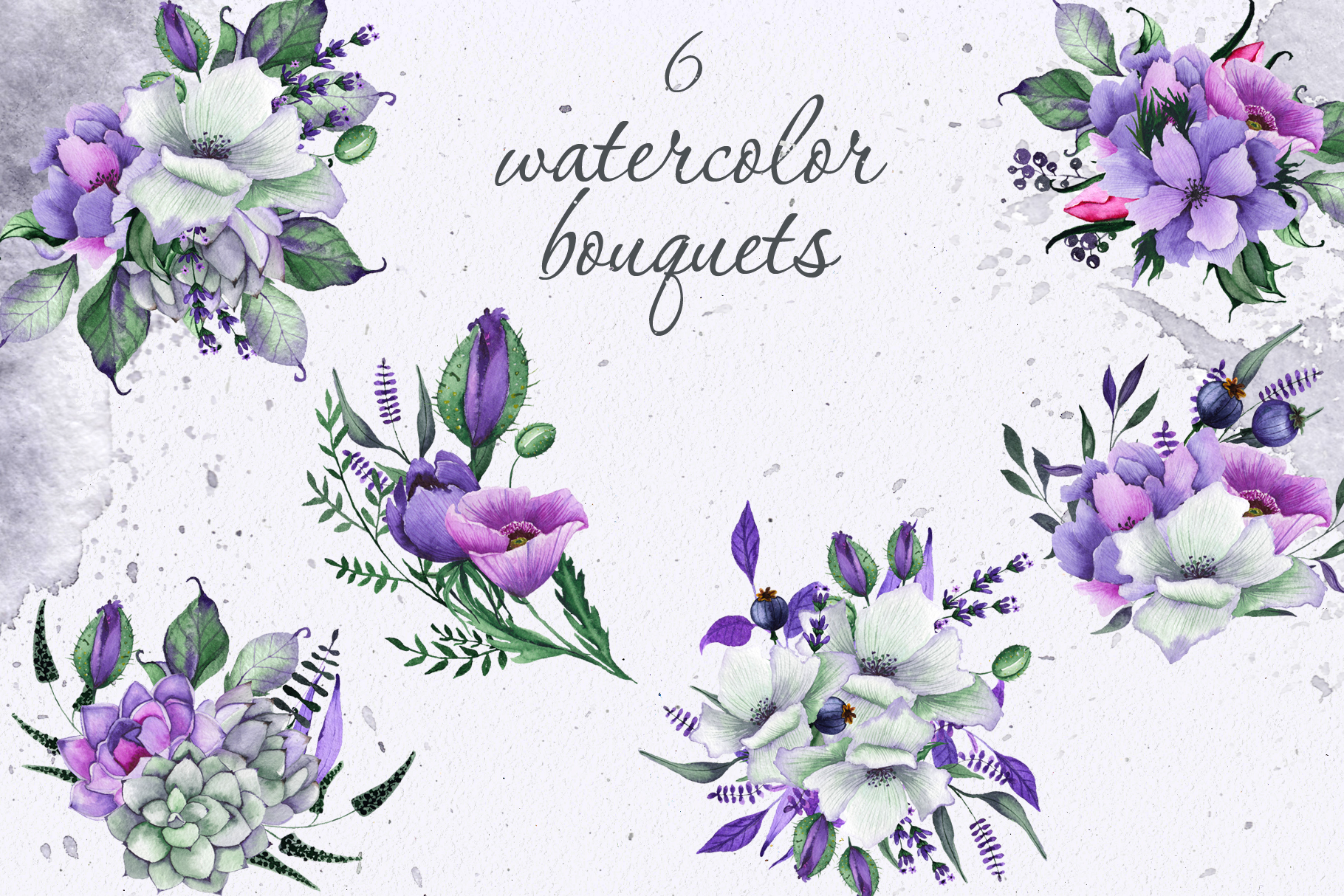 Floral purple green wedding collection example image 3