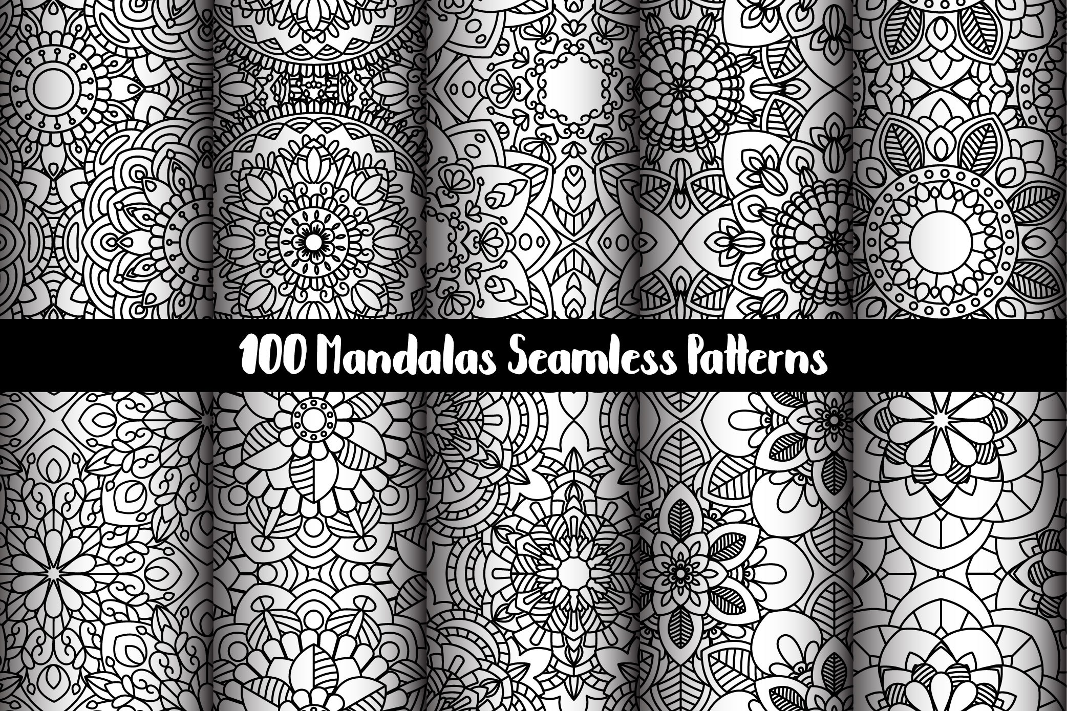100 Mandalas Seamless Patterns example image 9