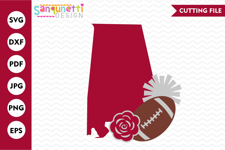 Alabama Football SVG, sport team cutting files example image 1