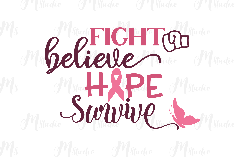 Cancer Awareness bundle SVG example image 18