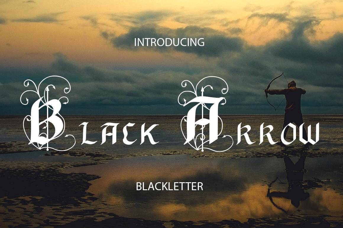 Black Arrow blackletter font  example image 1