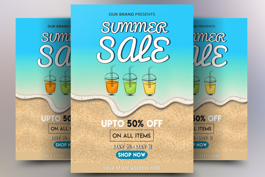 Summer Sale Flyer Temp example image 1