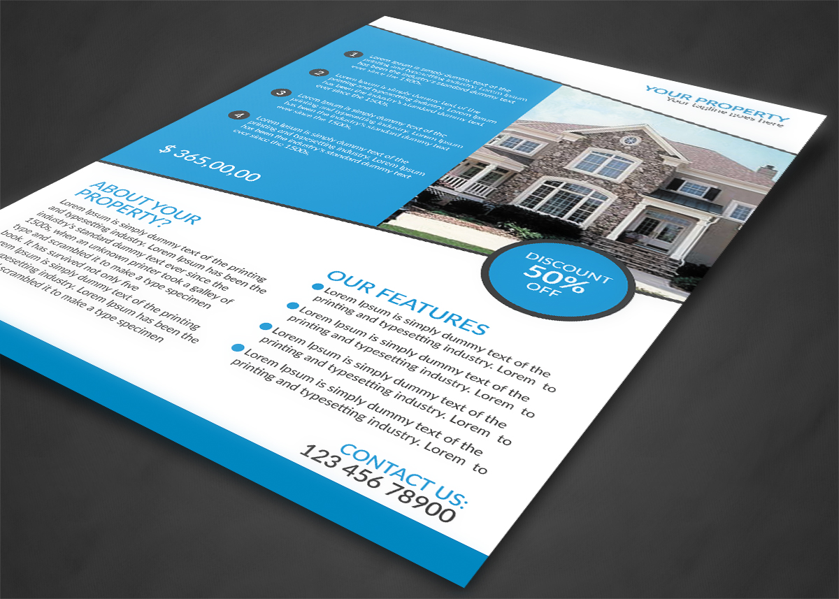 House For Sale Flyer Design example image 3