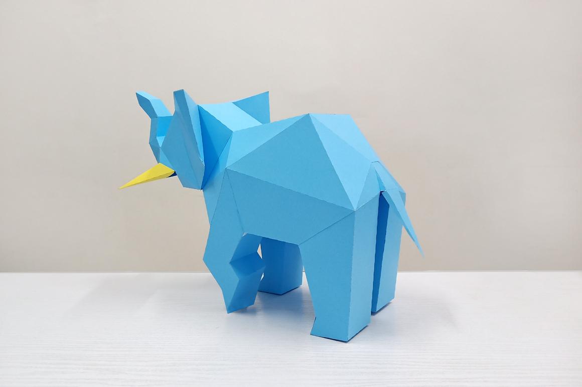 DIY Elephant Sculpture - 3d papercraft example image 4
