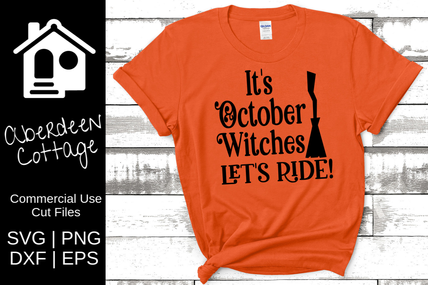 It's October Witches Let's Ride SVG example image 1