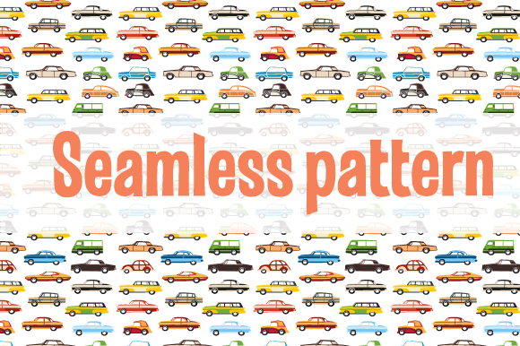 Retro cars and trains vector clipart example image 6