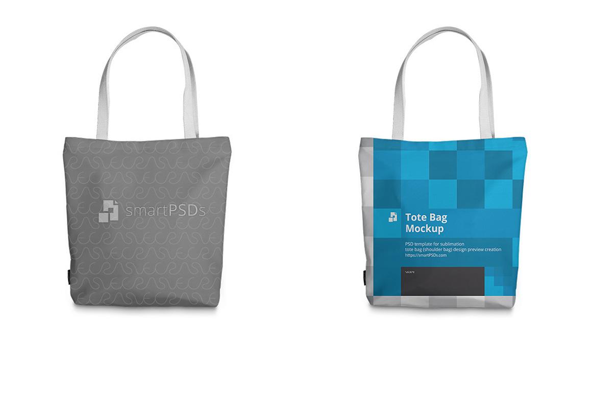 Tote Bag Sublimation Design Mockup - 5 Views example image 2