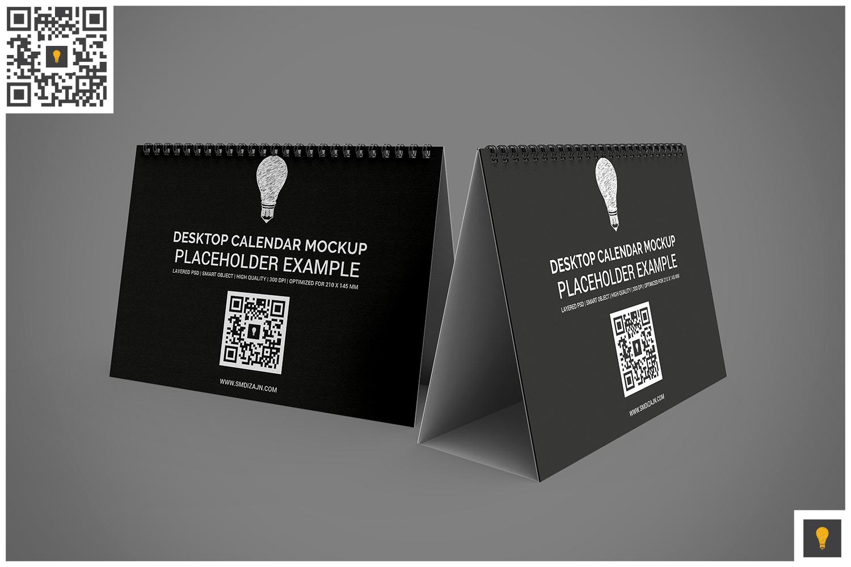 Desktop Calendar Mockup example image 9