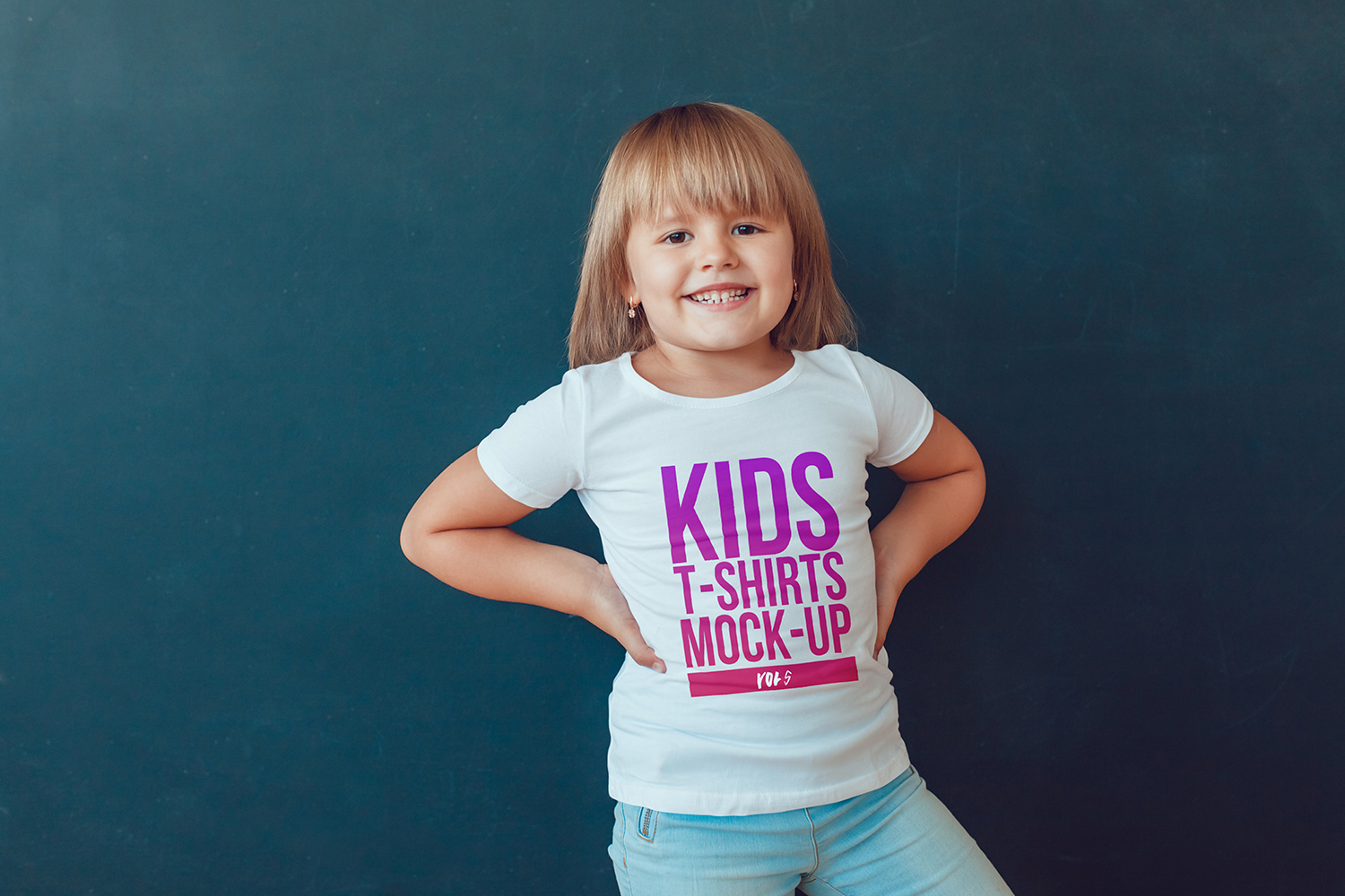 Kids T-Shirt Mock-Up Vol 5 example image 14