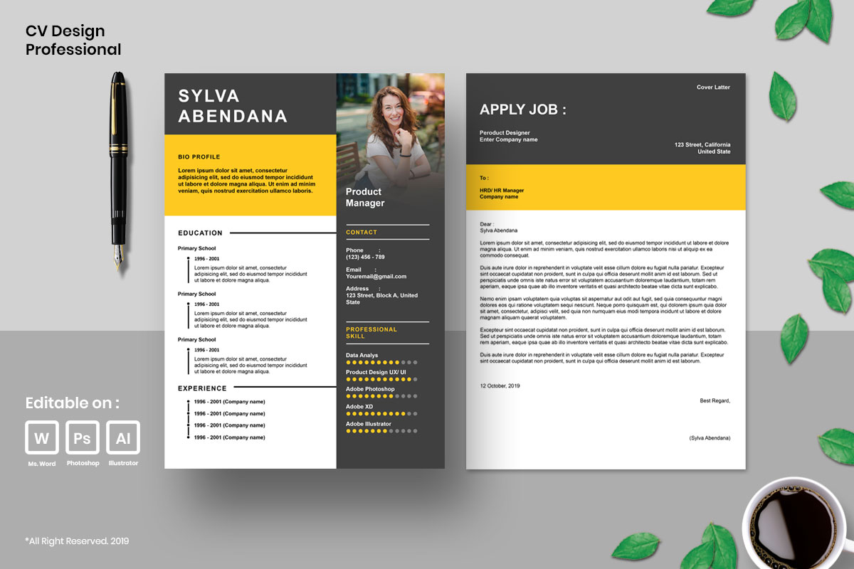 Resume Template CV Mega Bundles Professional !! example image 4