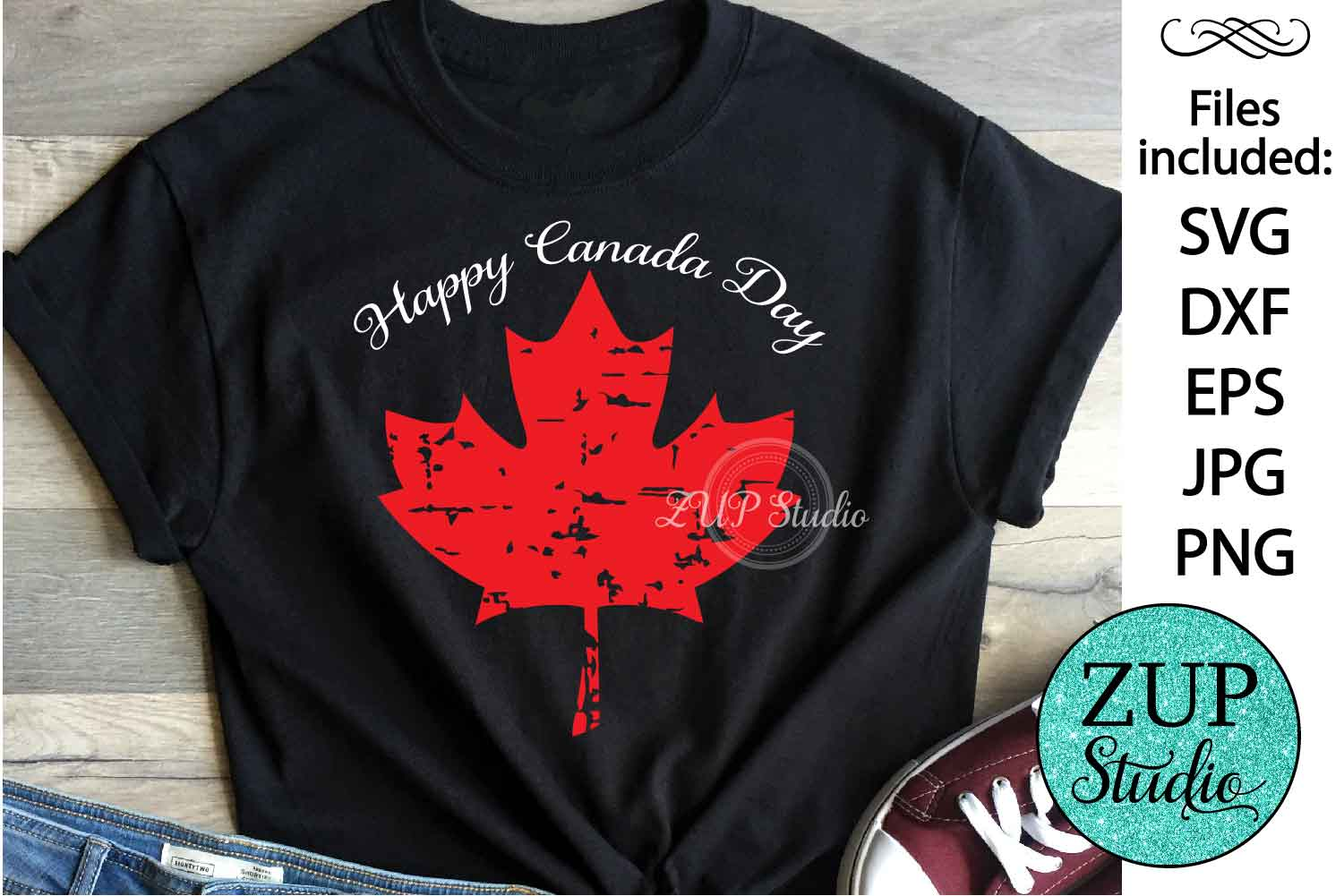 Maple Leaf Canada Day Digital Cutting files file 146 example image 1