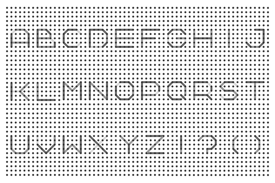 Dotted font - digital techno design example image 2