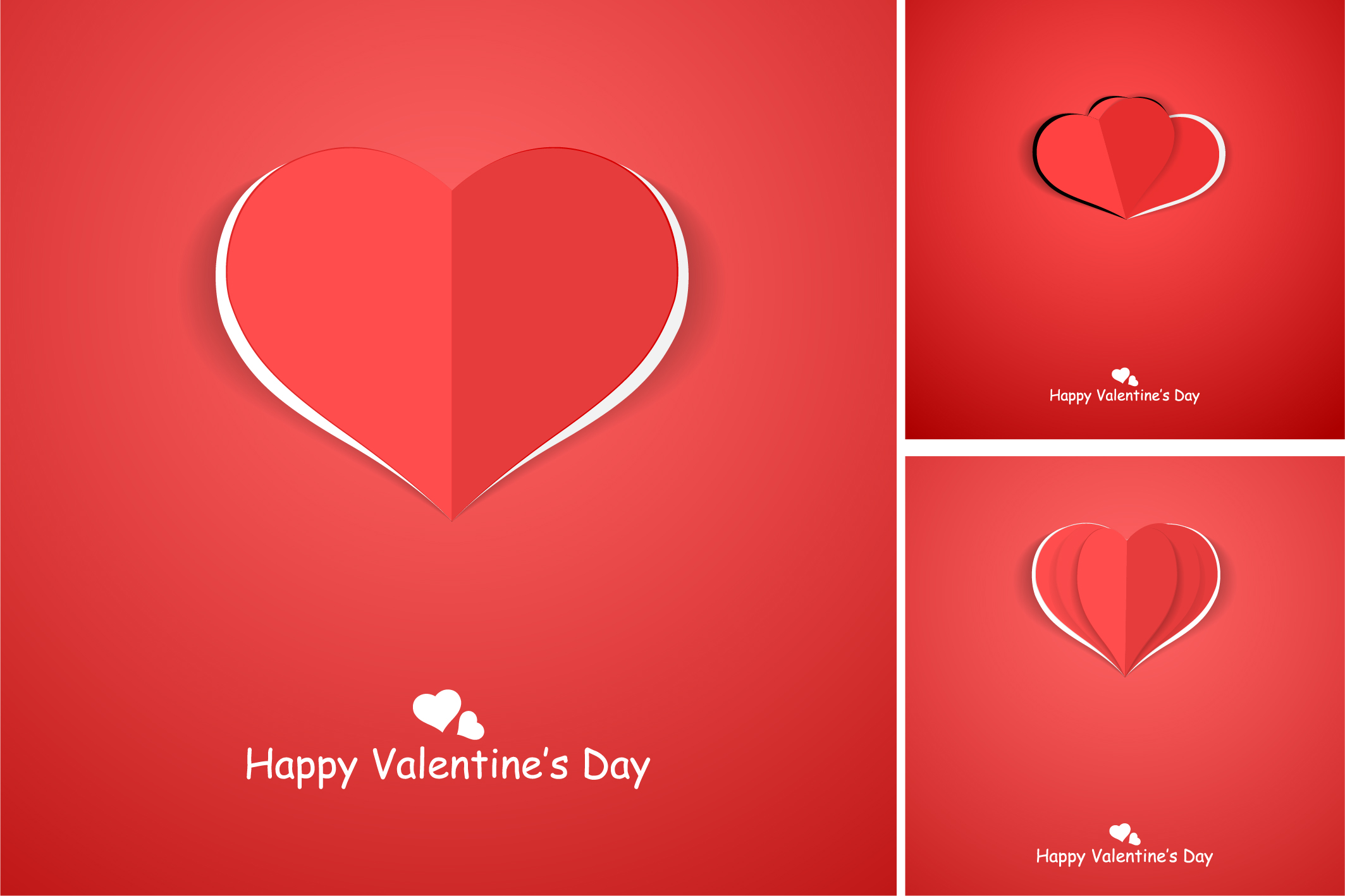 Red postcards with origami hearts. example image 5