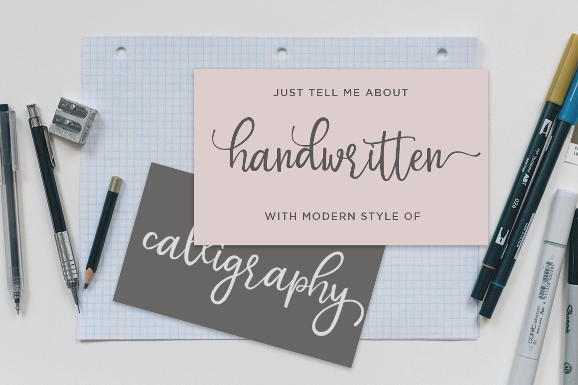 Mottion // Fashionable and Modern Calligraphy example image 3