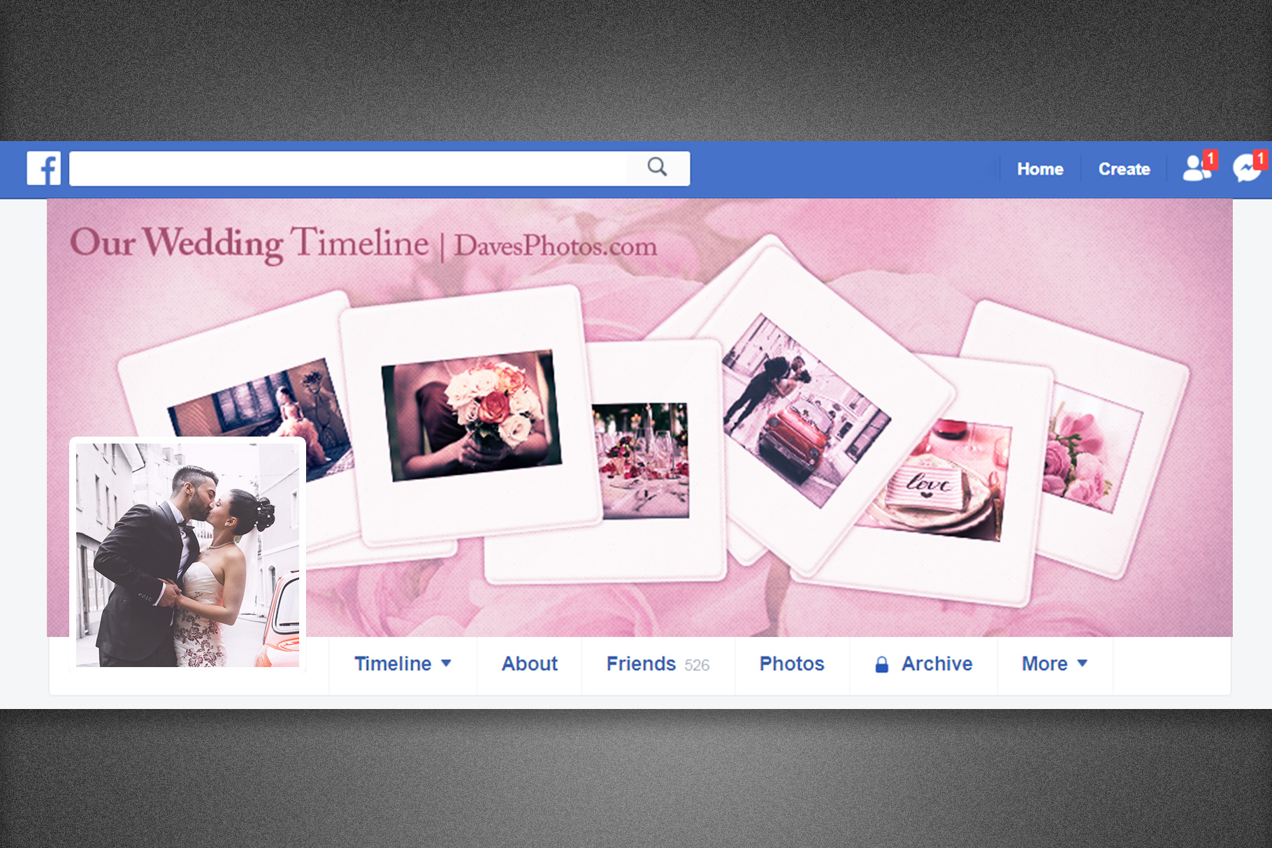 Our Wedding Facebook Timeline Cover example image 1