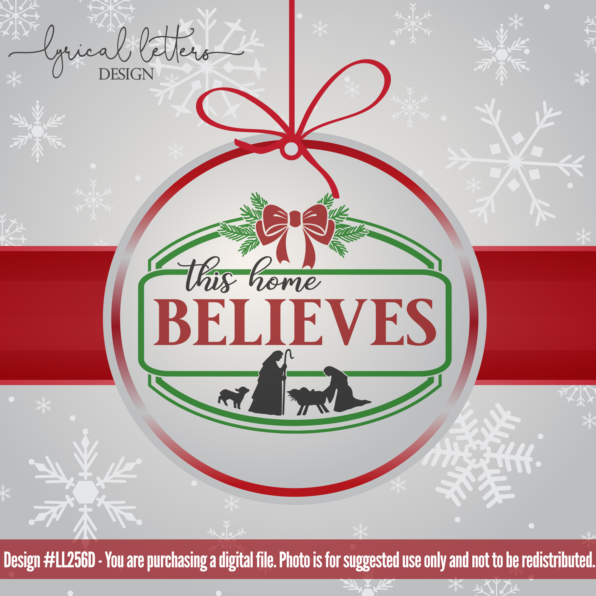 Farmhouse Christmas Bundle of 18 SVG Designs example image 7