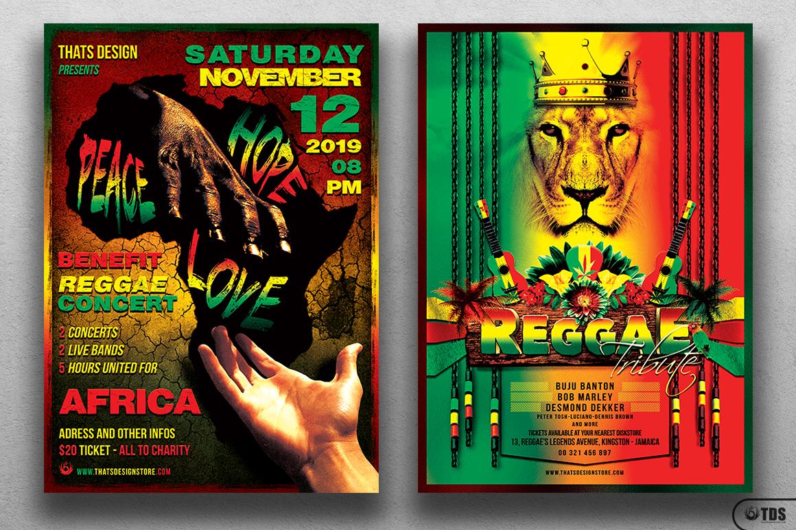 Reggae Flyer Bundle example image 2