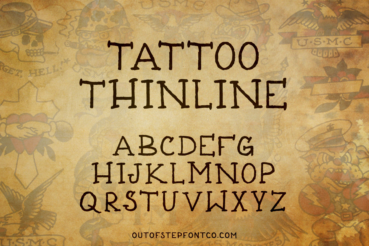 Tattoo Font Collection example image 8