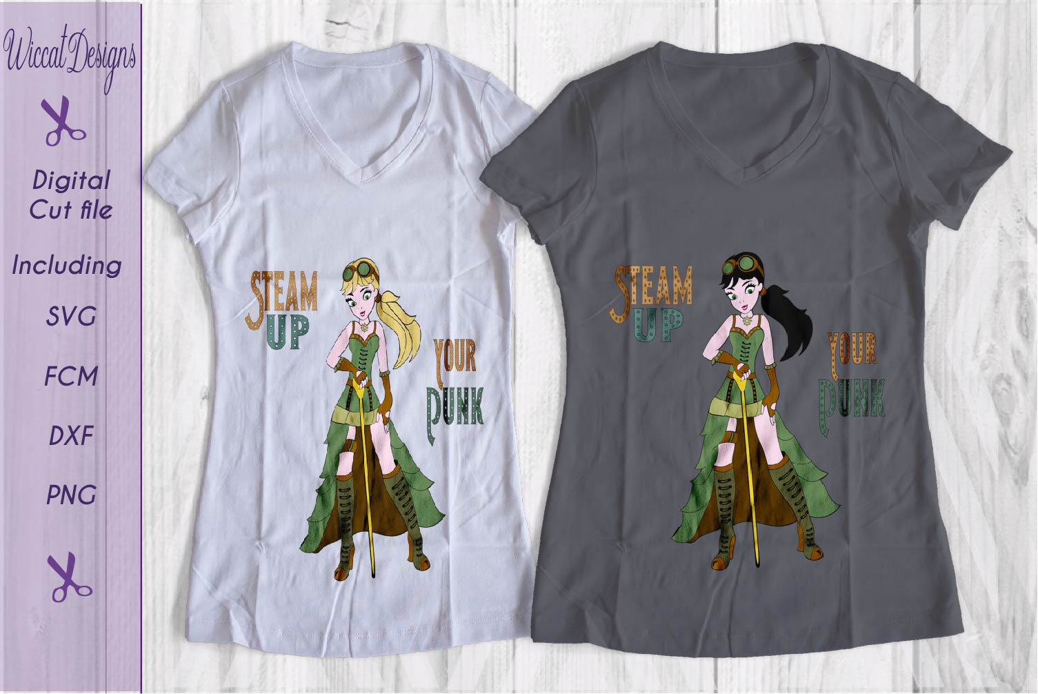 Steampunk svg, girl svg, Characters svg, fantasy svg,  example image 2