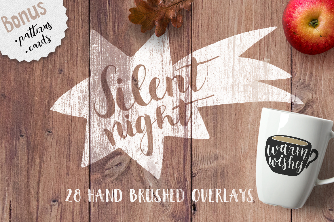 Silent Night Christmas photo overlays example image 1