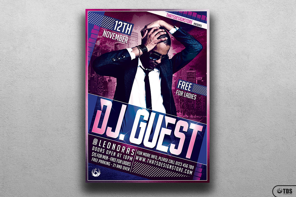 DJ Guest Flyer Template V1 example image 1