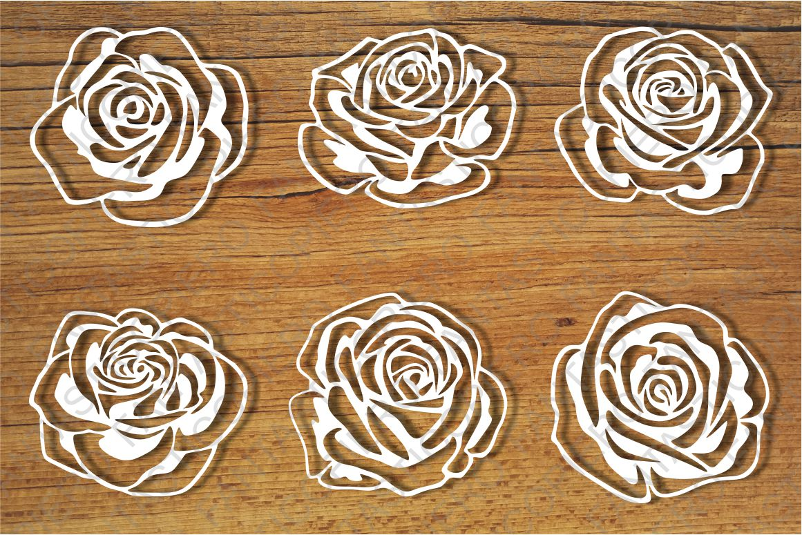 Roses and Stencil SVG files for Silhouette Cameo and Cricut. example image 1