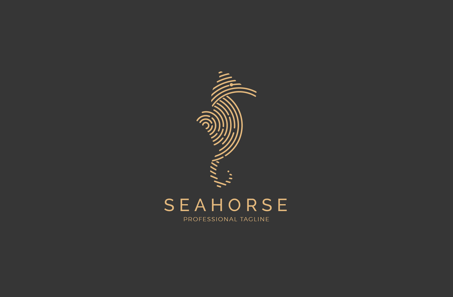 Animal Sea Logo - Seahorse Logo example image 1