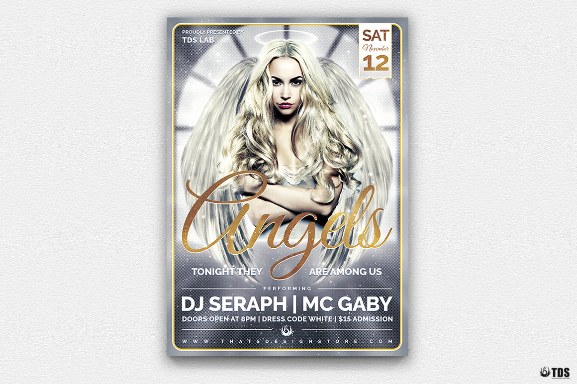 Angels Party Flyer Bundle example image 4