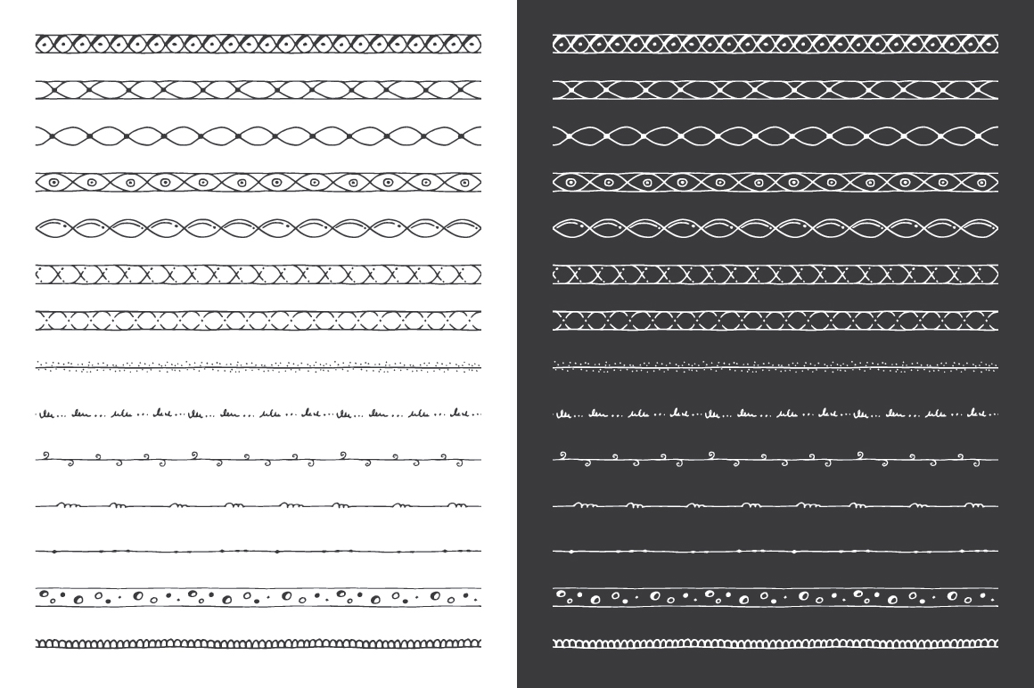 Hand Drawn Pattern Brushes Bundle - Volumes 01, 02 & 03 example image 11