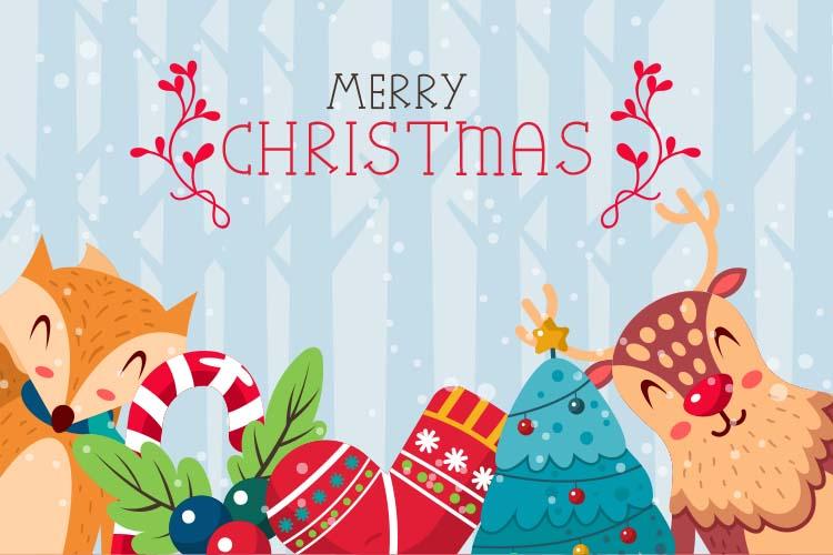 Christmas Mono, a font with frames of Christmas monograms example image 4
