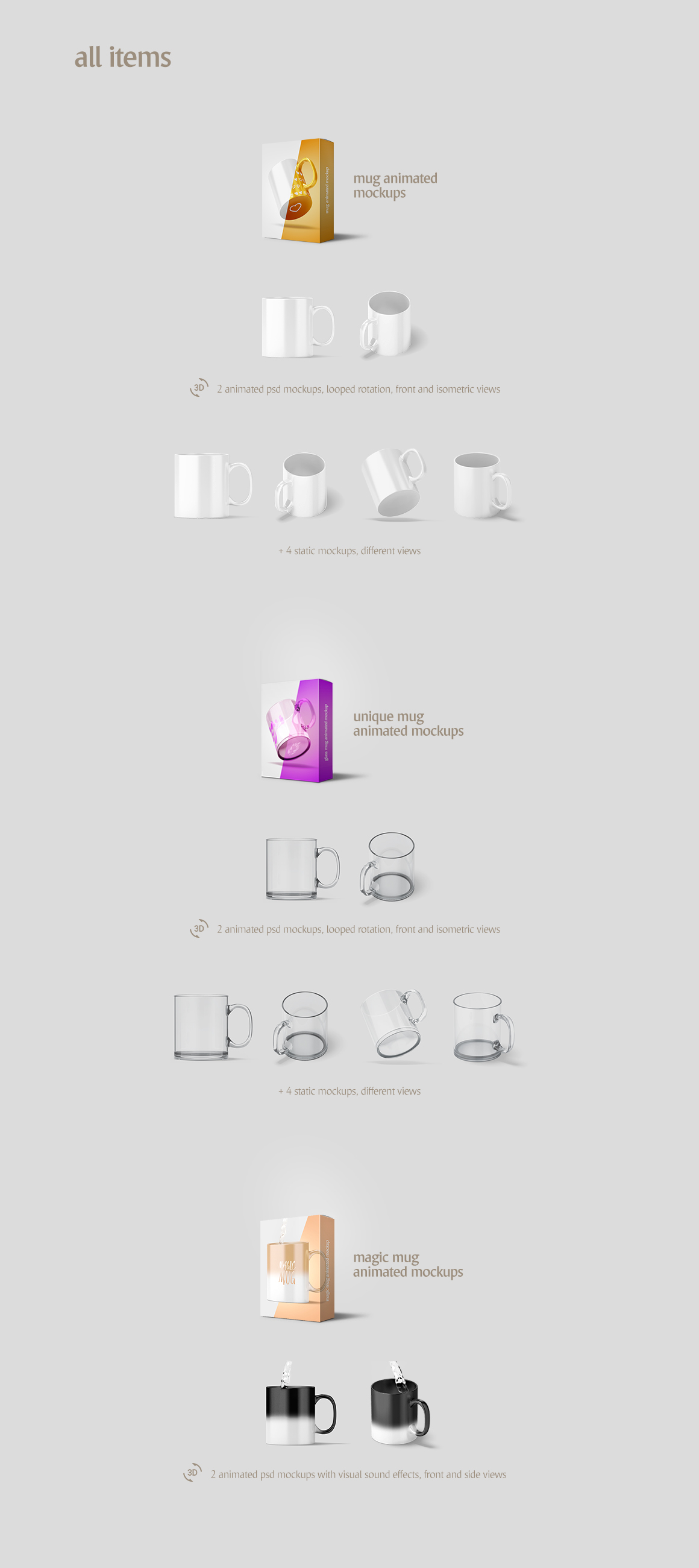 Mug Animated Mockups Bundle example image 2