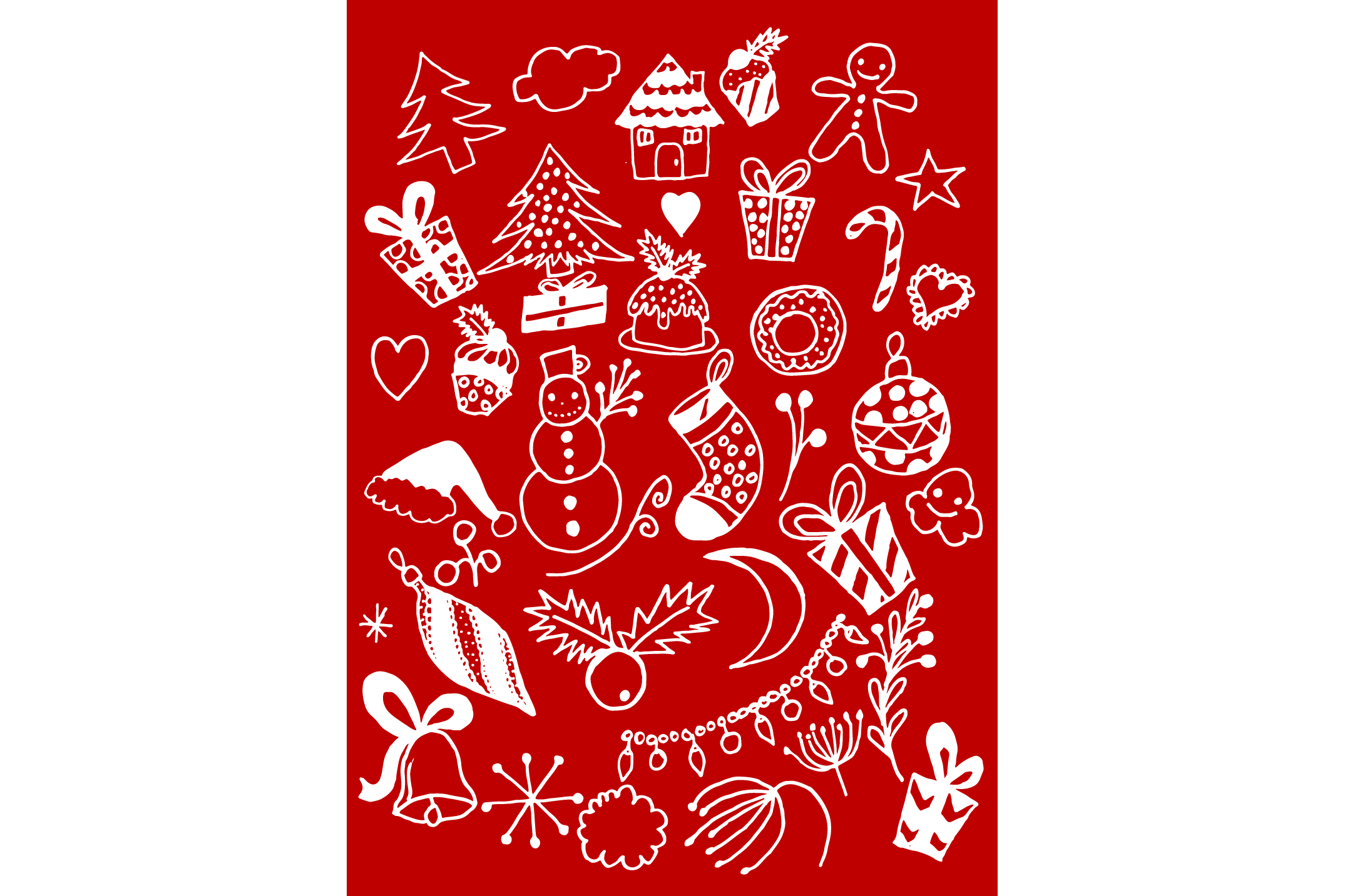 Hand Drawn Christmas Doodles example image 6