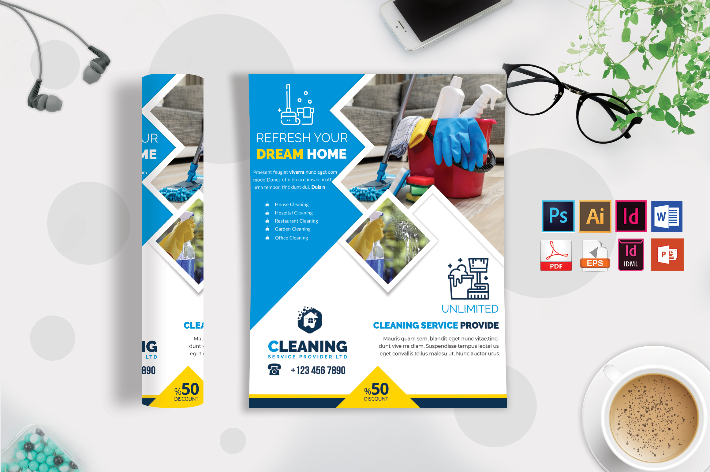 Cleaning Service Flyer Vol-06 example image 2