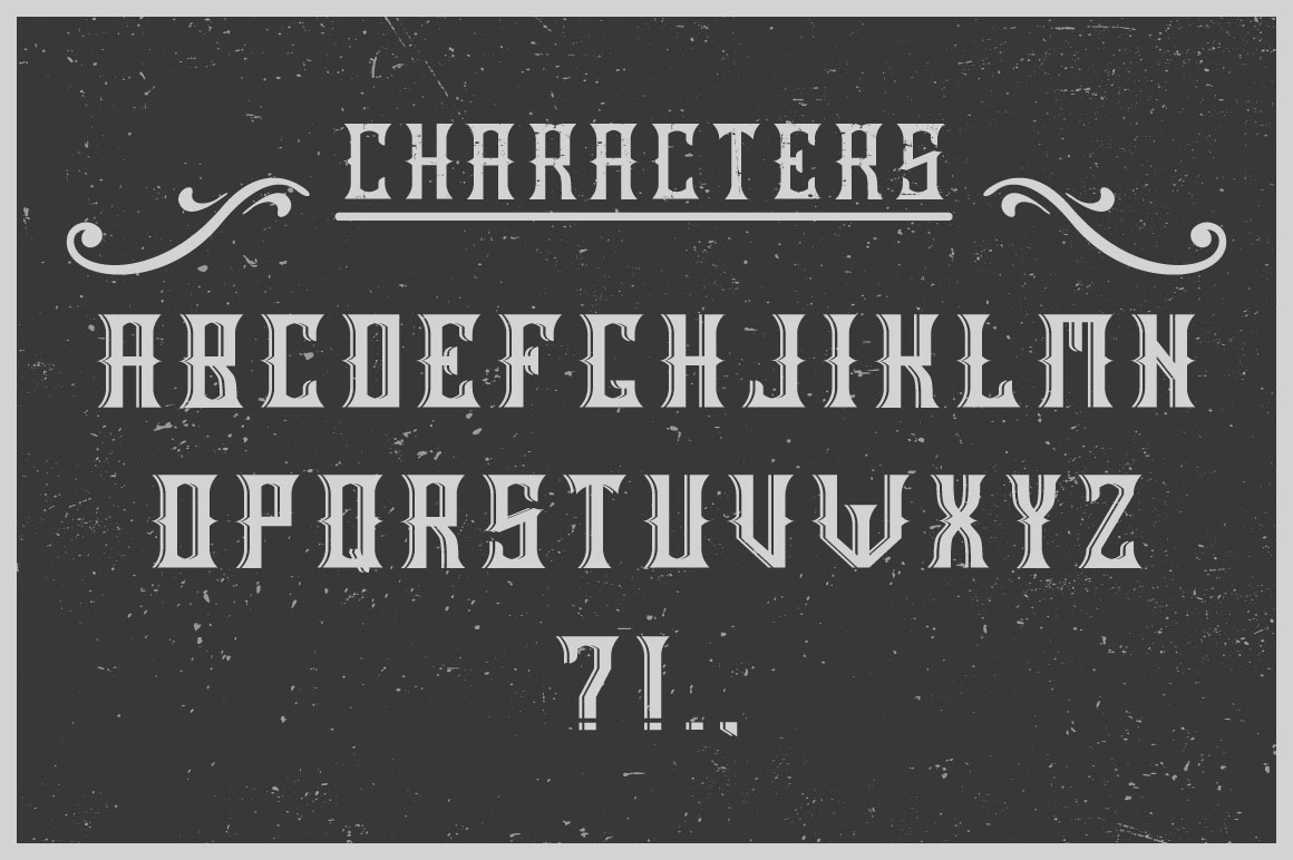 Handcrafted Old Cask label font example image 2