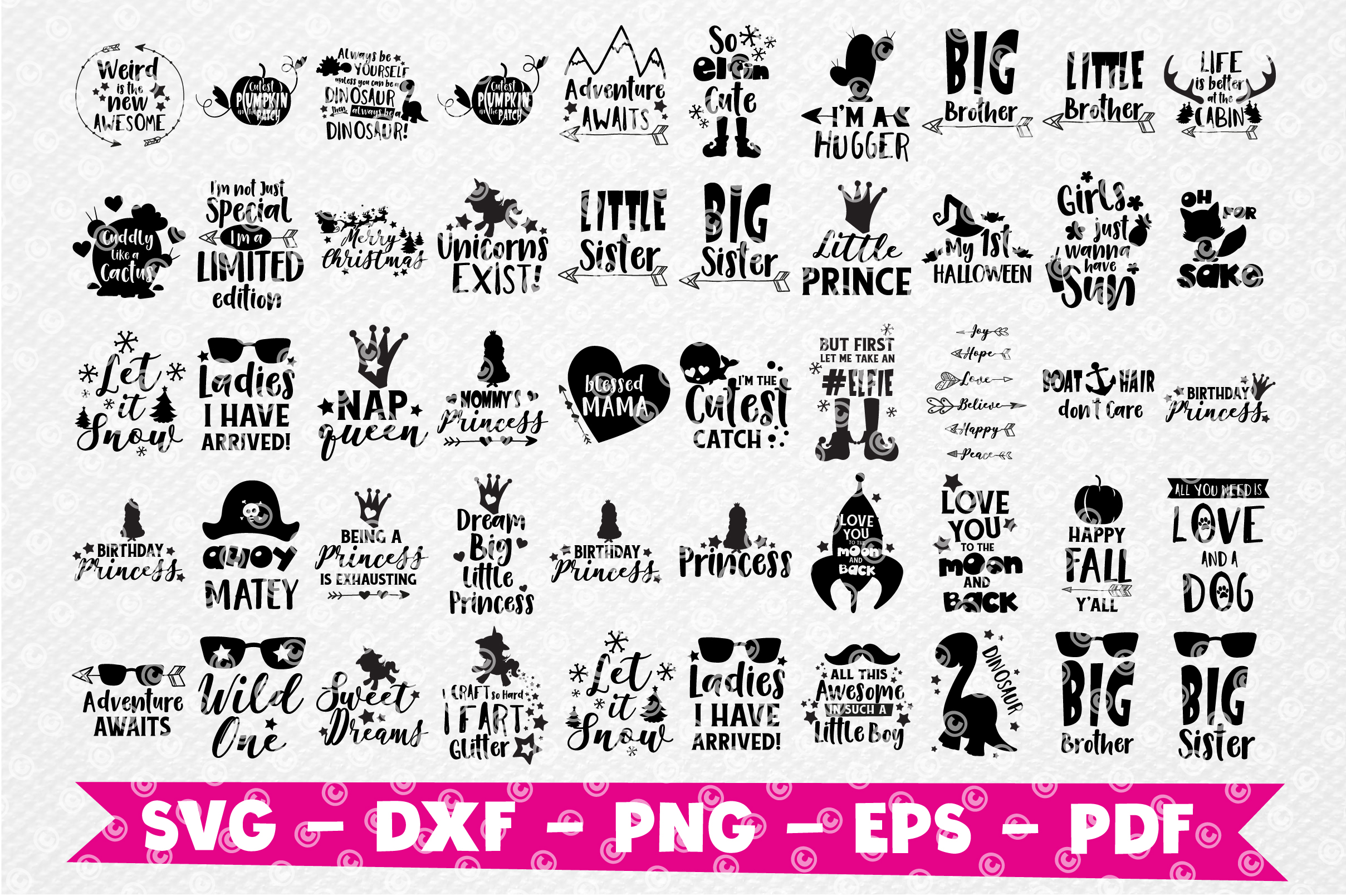 Craft MEGA BUNDLE, 150 in 1, cutting file svg, dxf, png, eps example image 2