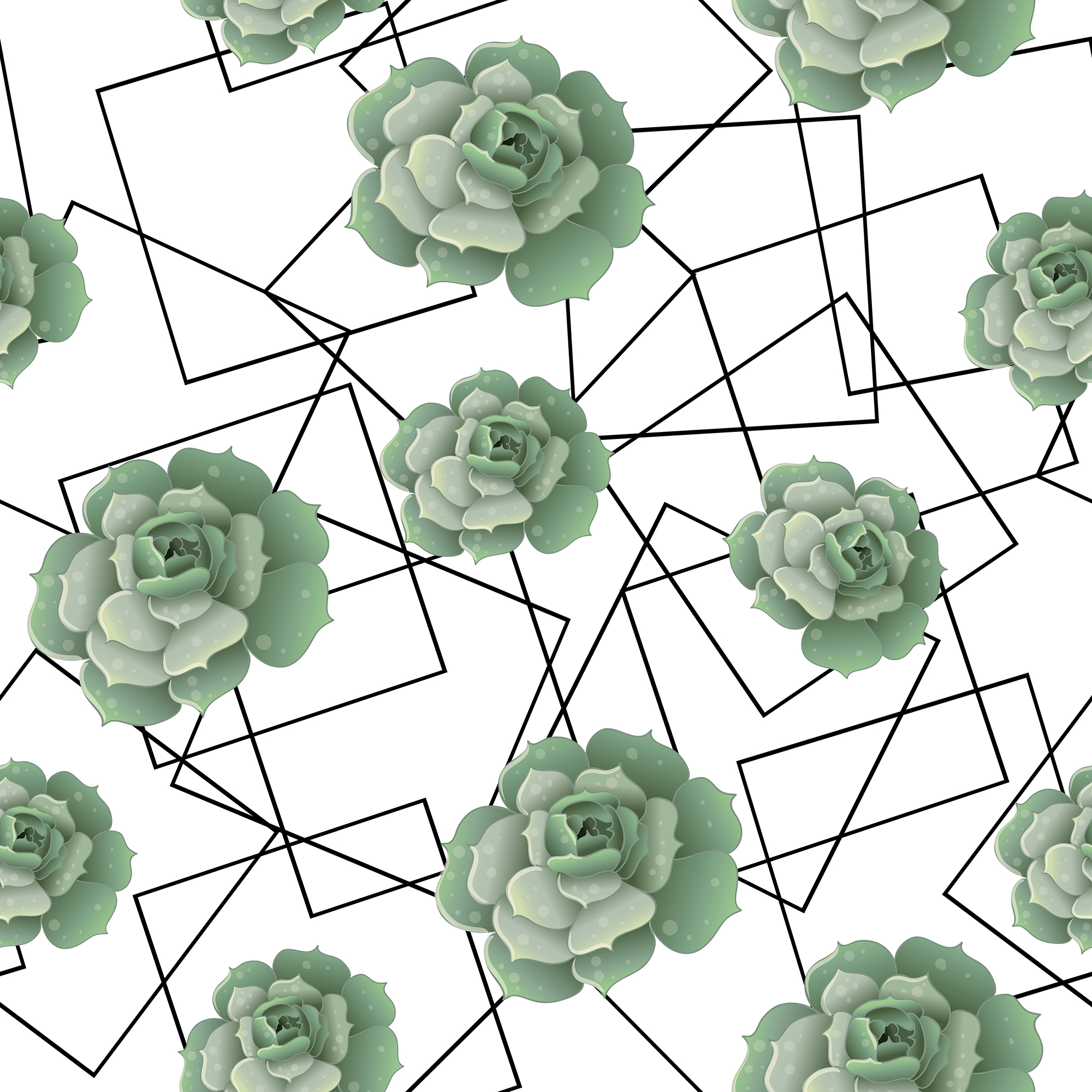 Wedding greenery invitation, patterns and isolated elements example image 7