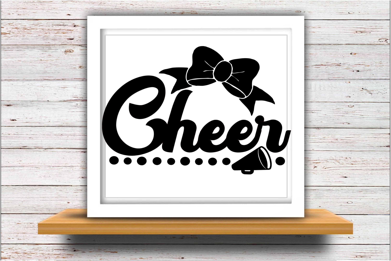 Cheer SVG DXF JPEG Silhouette Cameo Cricut Cheerleader example image 2