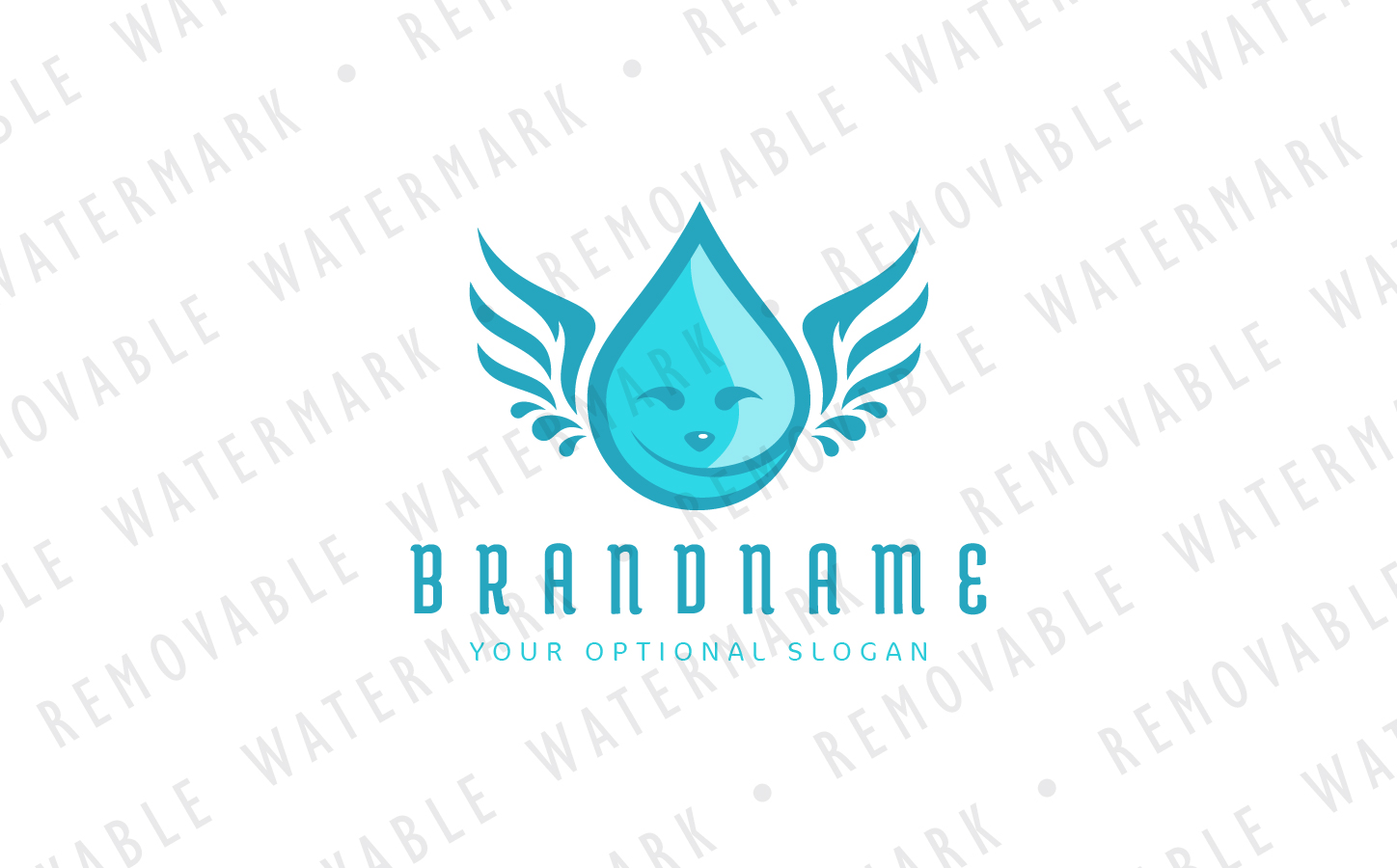 Droplet Angel Logo example image 2