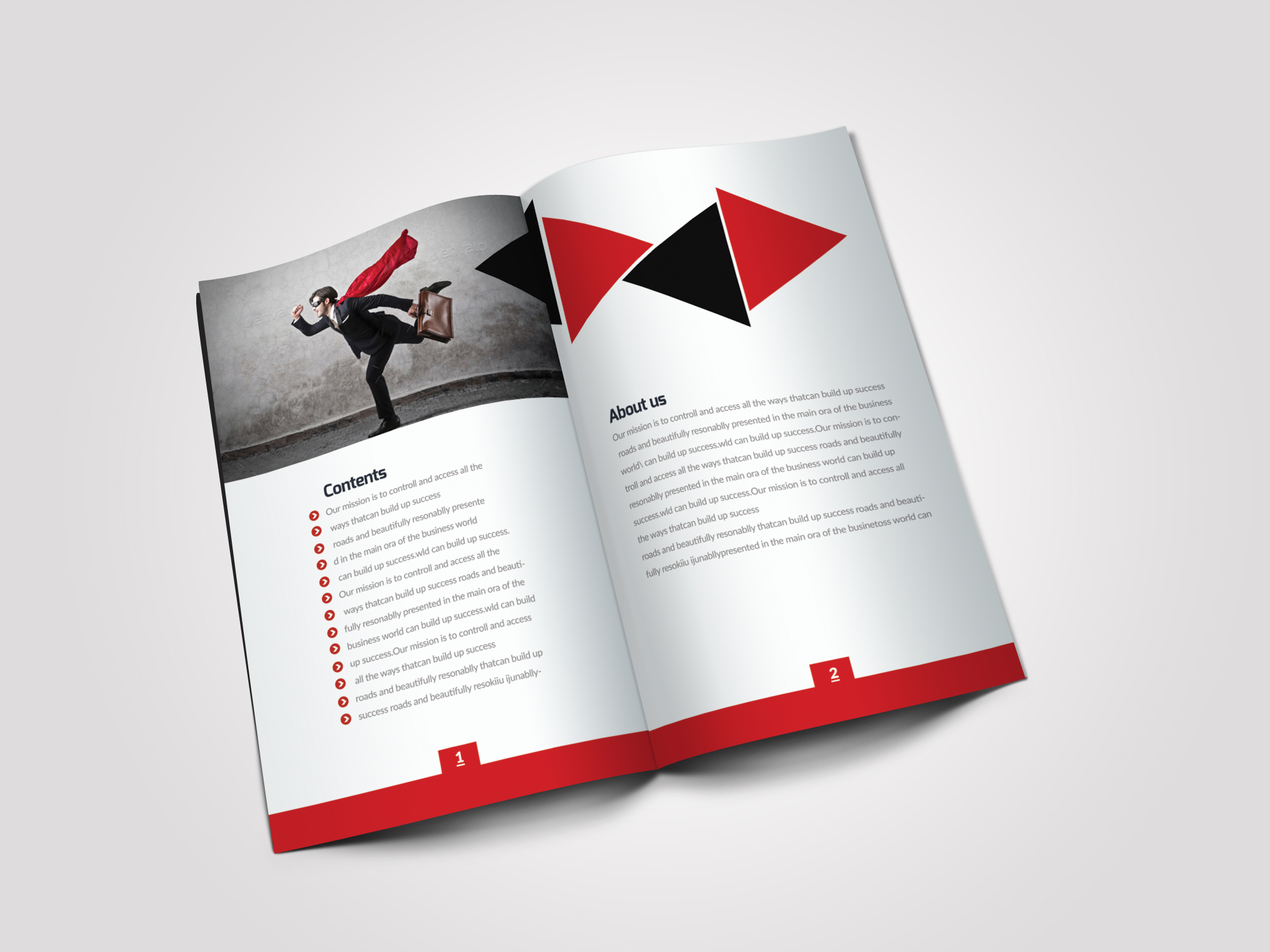 12 Pages Employment Business Bifold Brochure example image 8
