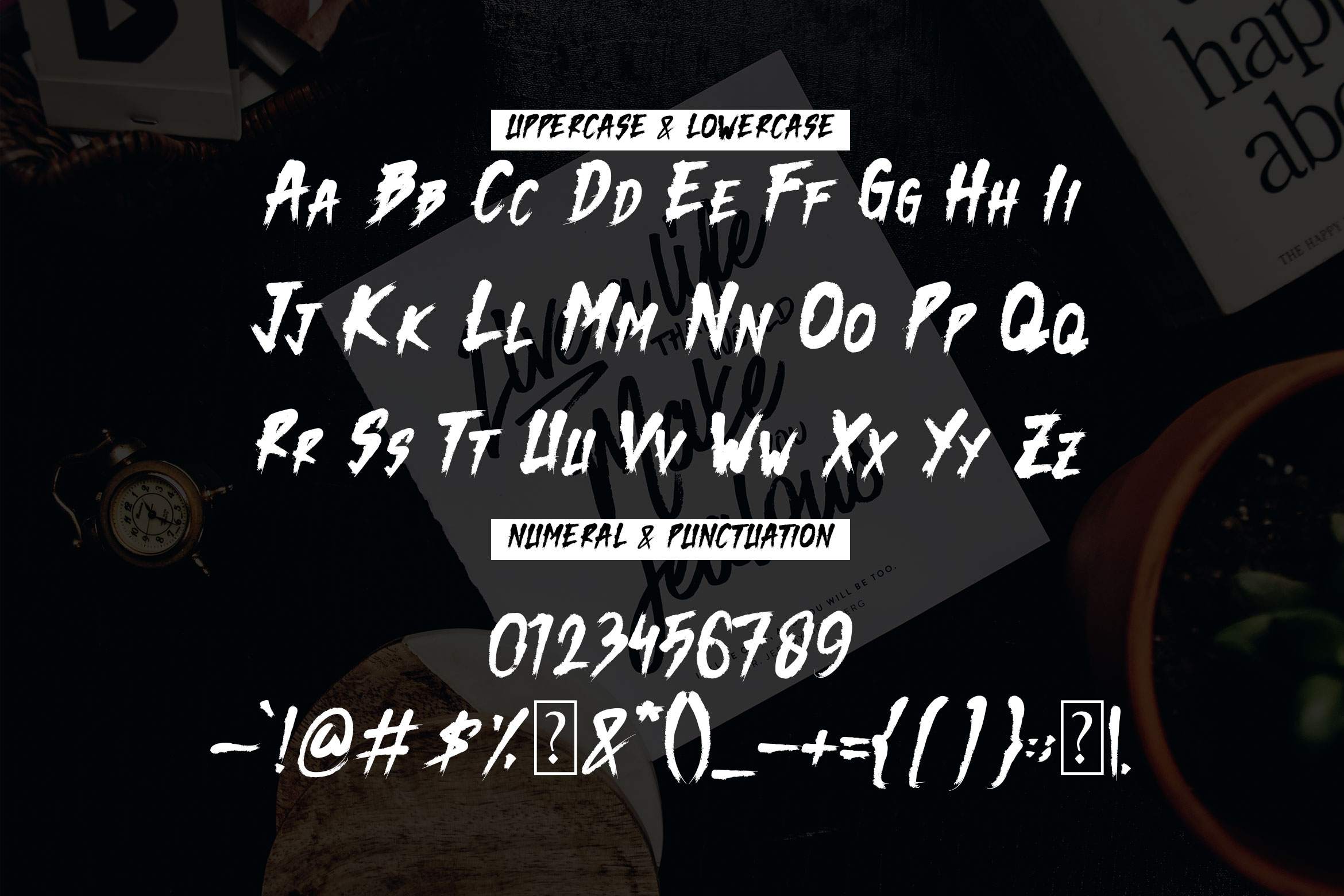 Dark Monk - Brush Font example image 5
