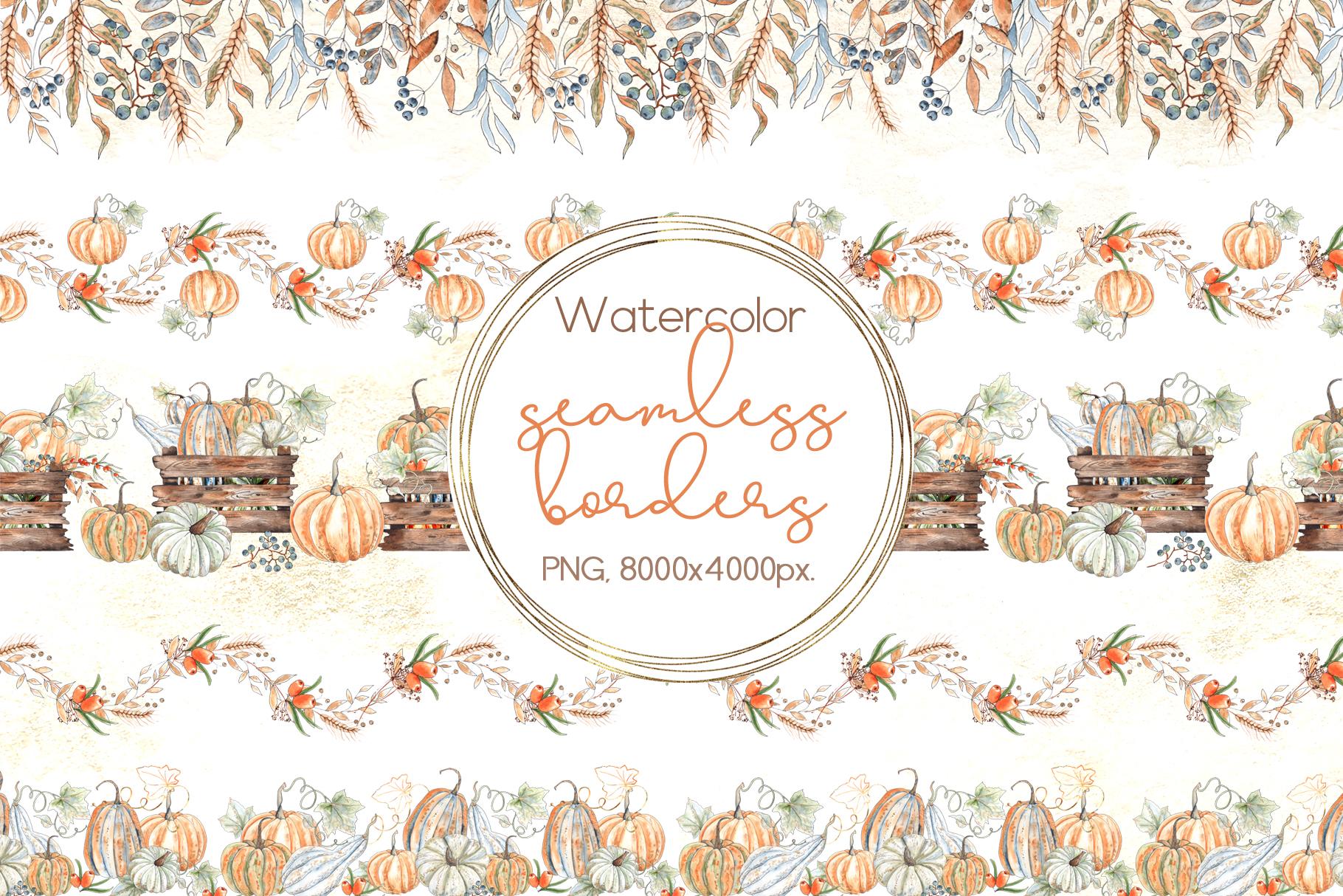 Watercolor autumn BUNDLE example image 16